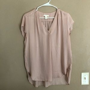 H&M soft pink blouse